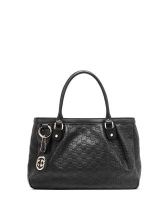 Sukey Guccissima Leather Tote Bag, Black