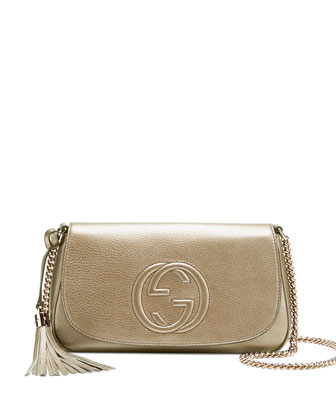 Soho Metallic Chain Shoulder Bag