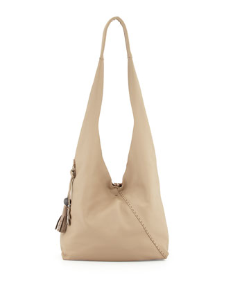 Cervo Large Hobo Bag, Dark Taupe