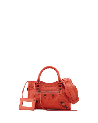 Classic Mini City Bag, Rose Corail
