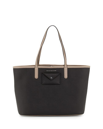 Metropolitote Tote Bag, Black/Tan