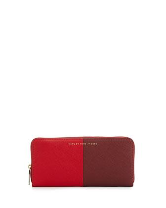 Sophisticato Halfsies Slim Zip Wallet
