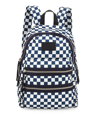Loco Domo Packrat Checkered Backpack, Deep Blue