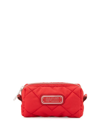 Crosby Quilted Small Cosmetics bag, Red