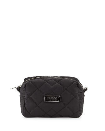 Crosby Quilted Large Cosmetic Case, Black