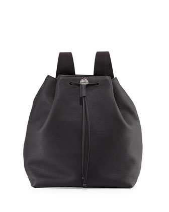 Backpack 10 Leather Hobo Bag, Black