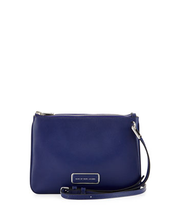 Ligero Double Percy Shoulder Bag, Mineral Blue