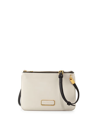 Ligero Double Percy Shoulder Bag, White/Black