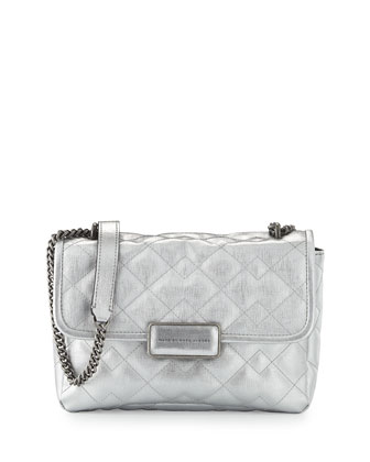 Rebel 24 Quilted Shoulder Bag, Silver