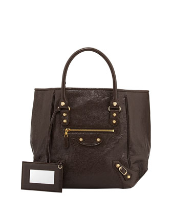 Giant 12 Golden Sunday Tote Bag, Charbon