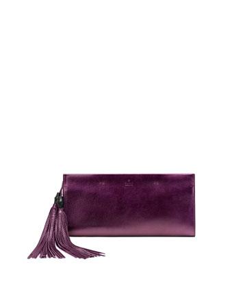 Nouveau Metallic Leather Clutch Bag