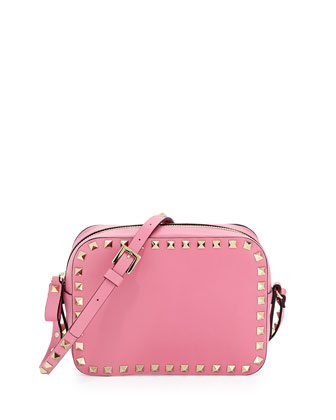 Rockstud Camera Crossbody Bag, Pink