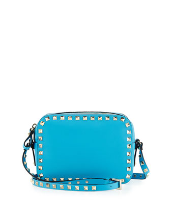 Rockstud Camera Crossbody Bag, Blue