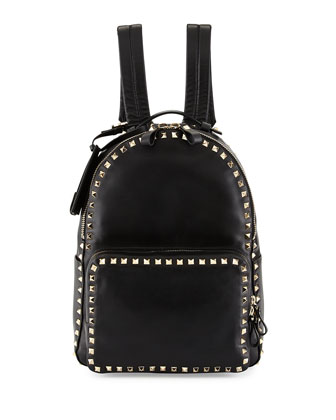 Rockstud Medium Backpack, Black