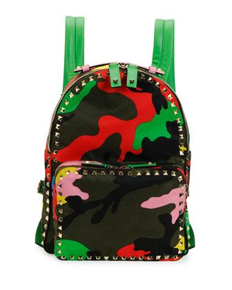 Psychedelic Camo Nylon Backpack