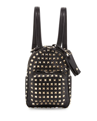 Rockstud Mini Backpack, Black