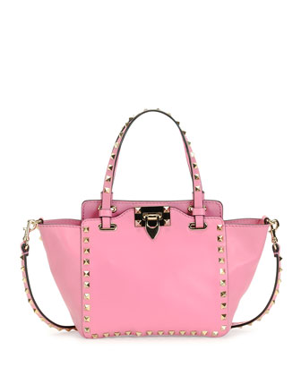 Rockstud Micro Mini Tote Bag, Pink