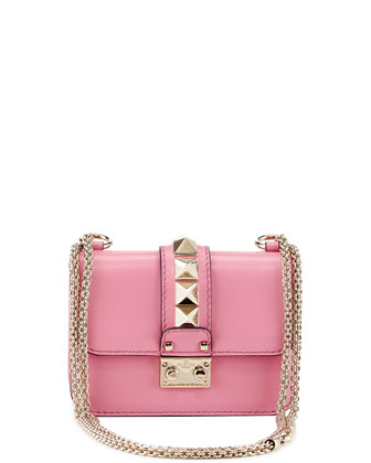 Lock Micro Mini Shoulder Bag, Pink