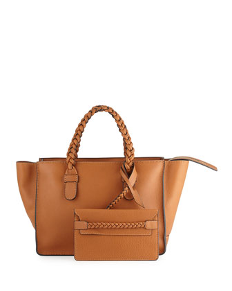 T.B.C. Braided Small Tote Bag, Brown