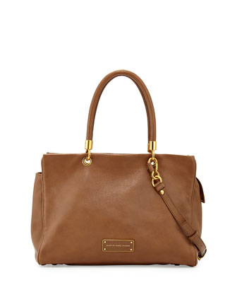 Too Hot to Handle Leather Tote Bag, Praline