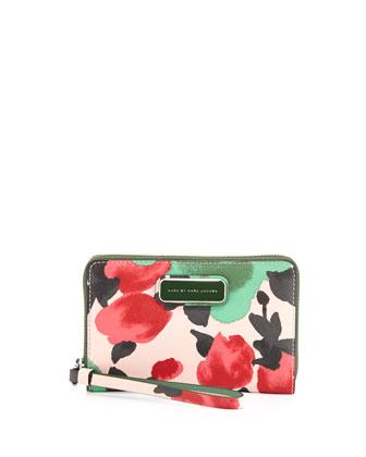 Sophisticato Jerrie Rose Wristlet Wallet, Desert Rose