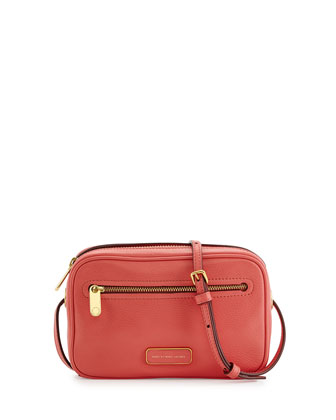 Sally Pebbled Leather Crossbody Bag, Rosebush