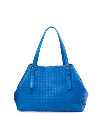 Veneta Medium A-Shaped Tote Bag, Signal Blue Royal