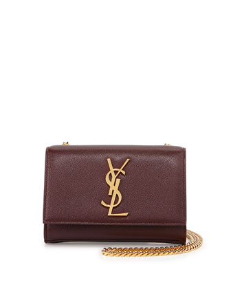 Monogram Flap Crossbody Bag, Bordeaux