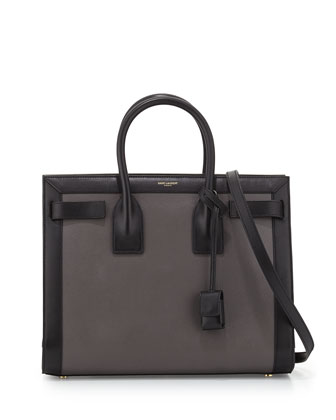 Sac de Jour Small Carryall Bag, Gray/Black