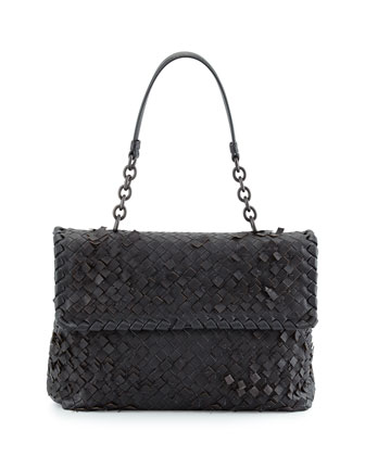 Olimpia Tobu Fringe Shoulder Bag, Dark Gray