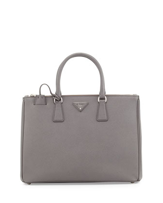 Saffiano Executive Tote Bag, Gray (Marmo)
