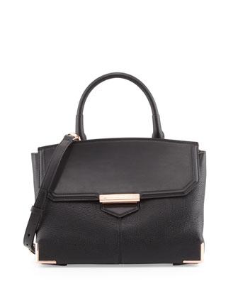 Marion Leather Shoulder Bag, Black