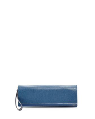 Rush Colorblock Wristlet Clutch Bag, Medium Purple