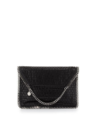 Falabella Netted Flap Shoulder Bag, Black