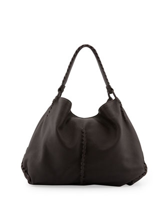 XL Cervo Shoulder Bag, Espresso Dark Brown
