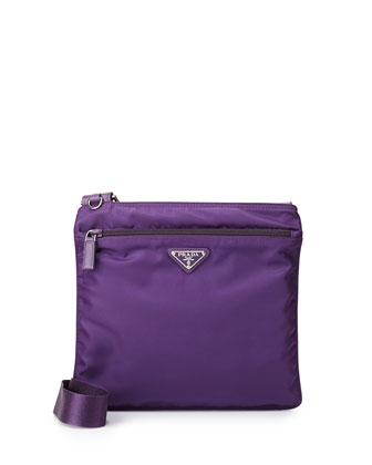 Vela Small Flat Crossbody Bag, Purple (Ciclamino)
