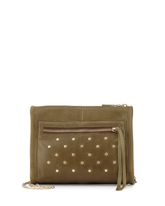 Cece Mini Studded Shoulder Bag, Military