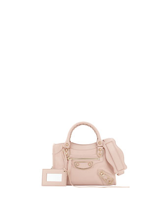 Metallic Edge Classic City Mini Crossbody Bag, Rose Aubepine