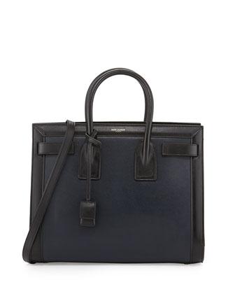 Sac de Jour Small Tote Bag, Marine/Noir