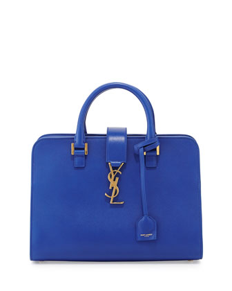 Monogram Small Zip-Around Satchel Bag, Bleu Majorelle