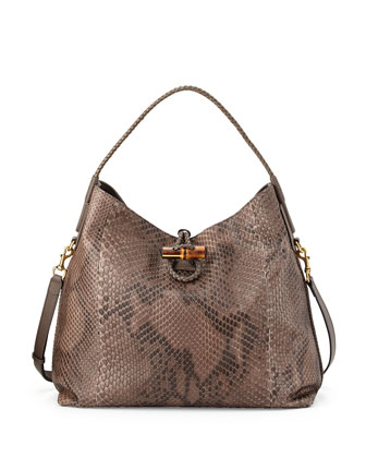 Hip Python Shoulder Bag, Field Gray