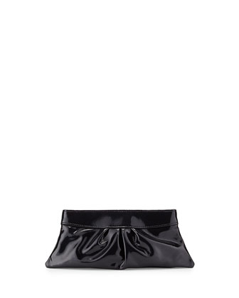 Eve Pearl Patent Clutch Bag, Black