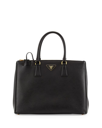 Saffiano Medium Executive Tote Bag, Nero (Black)