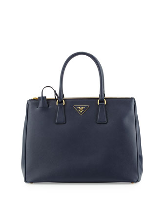 Saffiano Medium Executive Tote Bag, Dark Navy (Baltico)