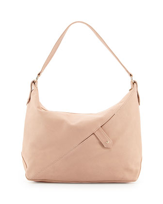Tess Soft Lizard Shoulder Bag, Blush