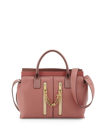 Cate Small Satchel Bag, Darlington Pink