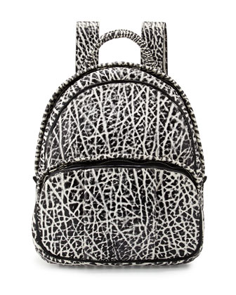 Dumbo Pebbled Backpack, White/Black
