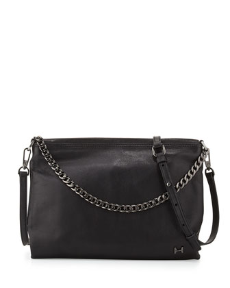 Large Convertible Clutch Bag, Black