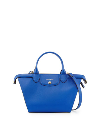 Le Pliage Heritage Saffiano Satchel Bag, Blue