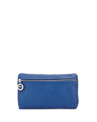 Le Pliage Cuir Cosmetics Case, Blue